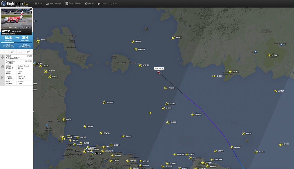 AirAsia A320 Missing in Indonesia - Flightstory - Aviation ...