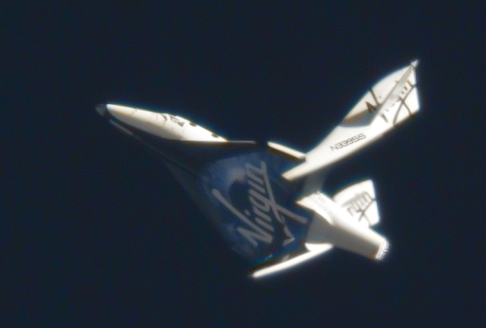 SpaceShipTwo (SS2) Feathered Re-Entry from Space