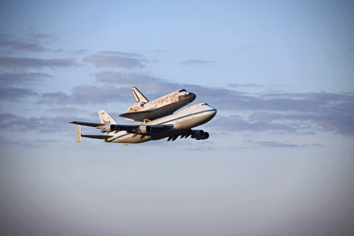 Space Shuttle Discovery Fly-By