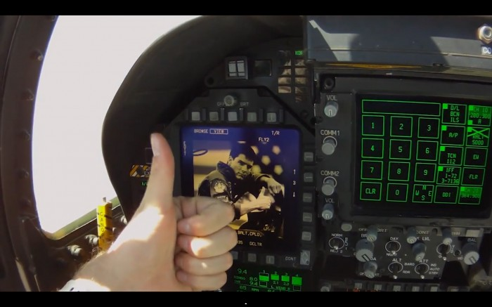 F/A-18 Topgun Thumbs-up