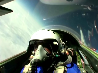 Riding a MiG-29 UB on the edge of space