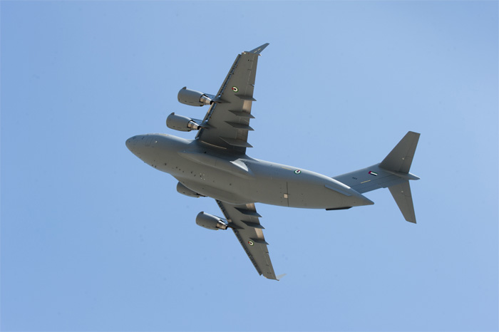 First United Arab Emirates Boeing C-17 takes off